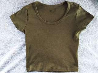 ARMY GREEN BASIC TOP