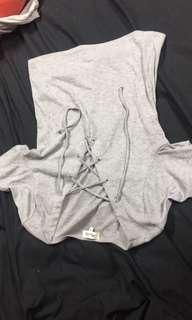 Criss cross lace up top