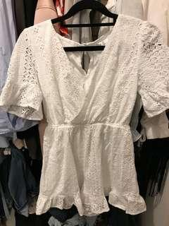 Ally White Playsuit- Brand new no tags Size 6