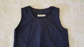 Dress loft blue texture dress