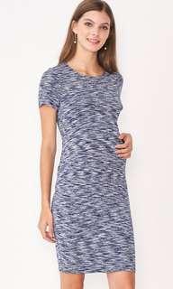 Dear Collective Maternity Nursing Jemma Bodycon Dress Blue
