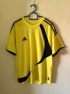 Yellow adidas jersey