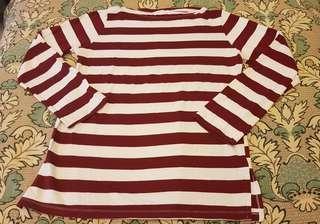 🚚 女生韓國紅白條紋上衣