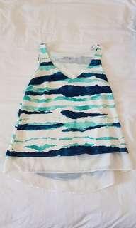 Target teal blue chiffon sleeveless top