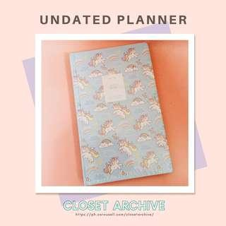Unicorn Undated Planner
