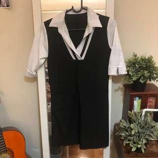 💕Korean v neck dress