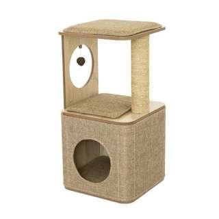 Lulu's World Lu-Cubox High Oldish Cat Tower/Tree (Brown)