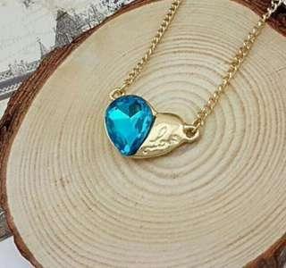 🚚 Swarovski elements crystal love heart necklace