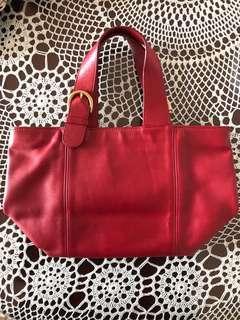 Coach handbag 深紅色