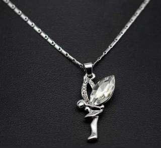 🚚 Swarovski elements crystal angel necklace