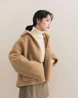 [外套]Meier Q 毛毛外套(淺咖)