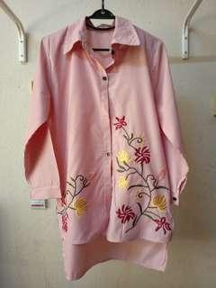 Embroidery Red Blouse