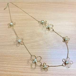 🇯🇵 Japanese Fashion Necklace Gold Colour Flower