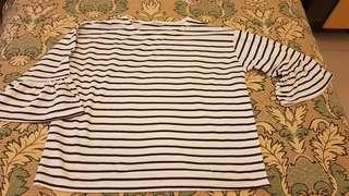🚚 女生韓版條紋造型上衣