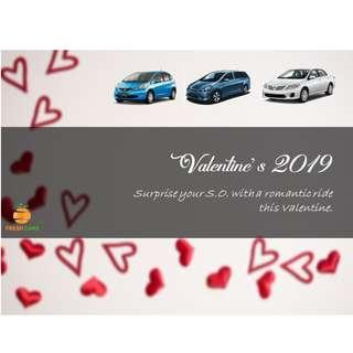 Valentine Car Rental- Just for your LOVE