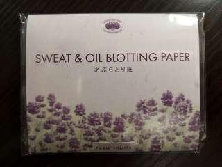 (購自北海道) 薰衣草Sweat & Oil Blotting Paper