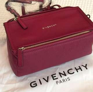 Givenchy mini pandora in fig pink