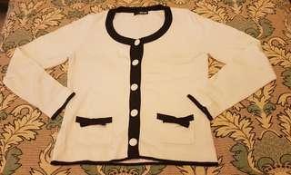 🚚 女生專櫃螺紋針織外套