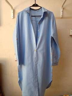 Light Blue Long Blouse