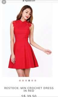 🚚 Red Crochet Dress