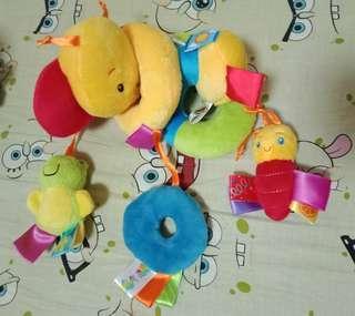 Crib stroller toy