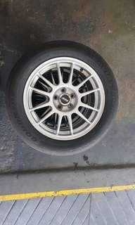 """Toyota wish 16"""" OZ racing Rims with tyres"""