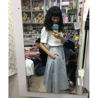 🚚 9成新!!超級美條紋白裙