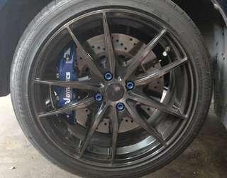 Rim with Goodyear Tyre