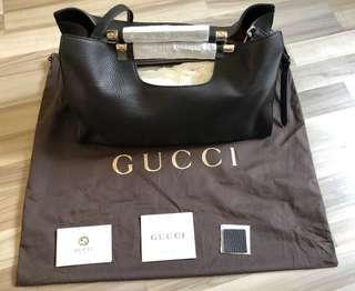 177322545b4b Brand New 100% Authentic Gucci Bamboo Handle Leather Bag