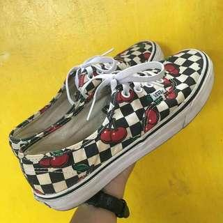 Cherry Checkered Vans [Repriced] (Authentic)