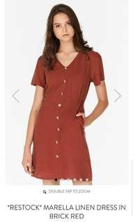 Theclosetlover Marella Dress in Brick Red