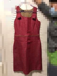 紅色連身裙cop copine