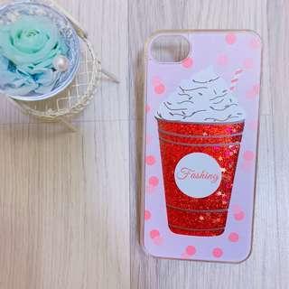 🚚 Iphone 7/8 4.7吋 流沙 冰淇淋 閃粉 手機殼