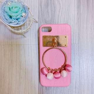 🚚 Iphone 7/8 4.7吋 粉色 木紋 球球 硬殼 手機殼
