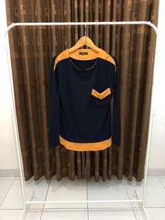 Top Navy. Fit to L - melar banget ya ini. Very comfy to wear.