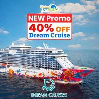 40% + S$200 OFF Genting Dream Cruise Promo