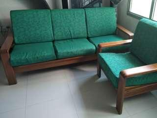 SCANTEAK 3-Seater + 1 seater