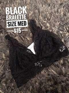 Black bralette