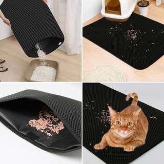 🚚 Cat Litter Mat, Double-Layer Litter Trapper Mat Waterproof Non-Toxic Easy Clean Cat Little Tray Pad - 50cmX40cm