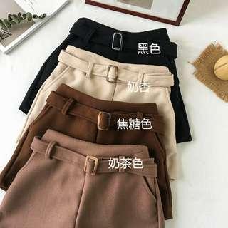 🚚 💛毛呢短褲 全新 #半價衣服市集