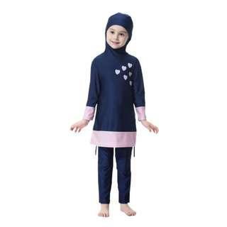 Promotion Muslimah Kids Swimming Suit Long Sleeve Pants