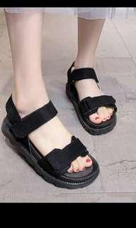 Korean Black sandals