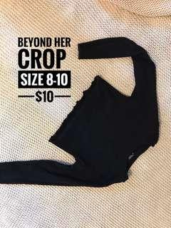 Beyond her crop