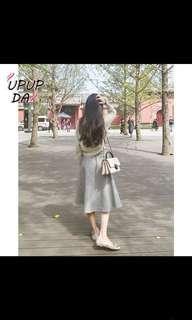 🚚 灰色毛呢中長裙 質感超好 #半價衣服市集