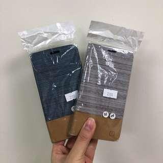 🚚 全新 咖啡+藍色 s6 edge 皮套
