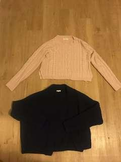 Jumpers/cardigans $10 each