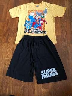 Boy Super hero tee and shorts set