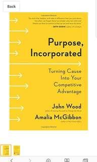 Purpose, Incorporated signed by John Wood