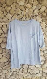 Bershka sky blue shirt