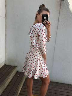 Polka dot frill dress new with tags